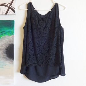 Mossimo Lace Overlay Sleeveless Blouse